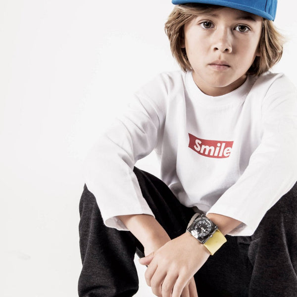 Smile Long-Sleeve Tee (3-7yrs) - Port 213.com