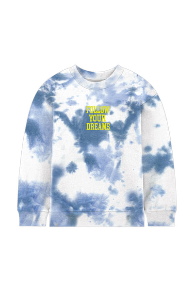 Blue Dreams Tie-Dye Crew Neck Sweatshirt