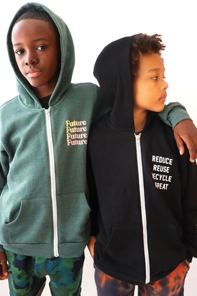 Green Sponge Fleece Future Zip Hoodie
