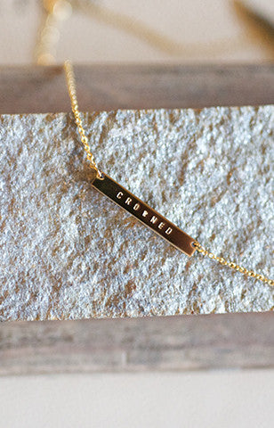 DEFINE YOU ID Bar Necklace