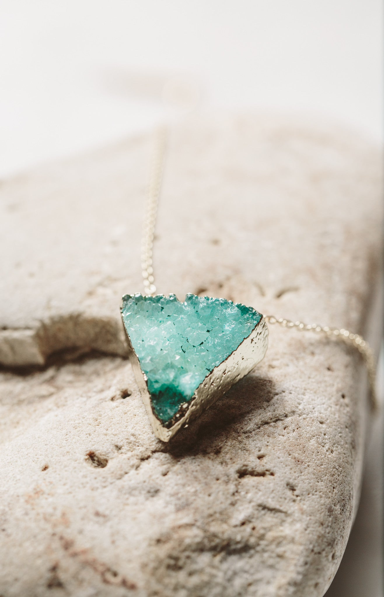 HOPE Triangular Druzy Necklace