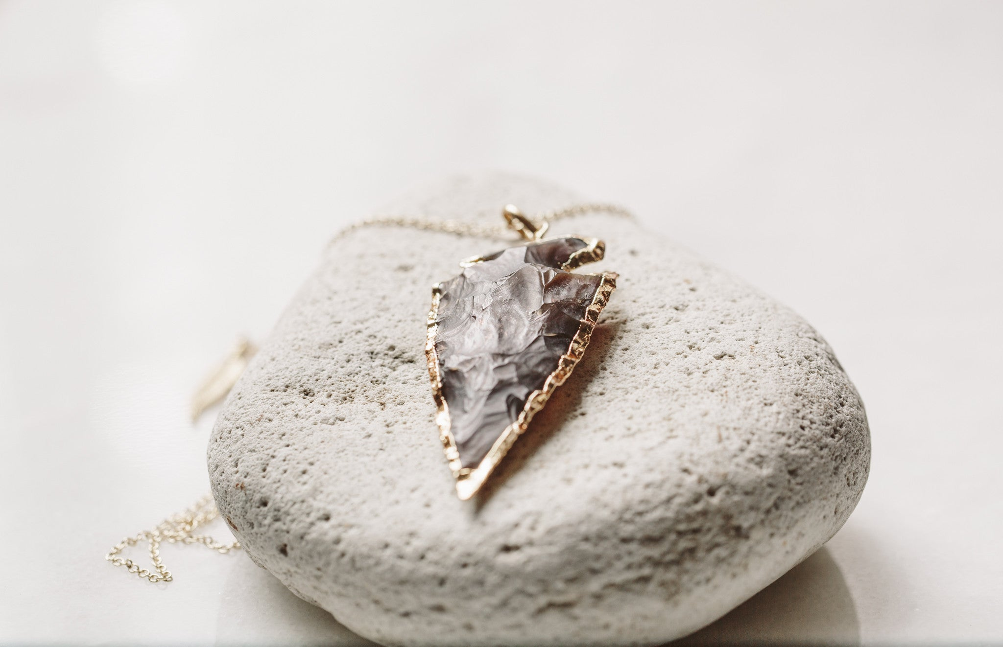 ARMINA Stone Arrowhead Necklace