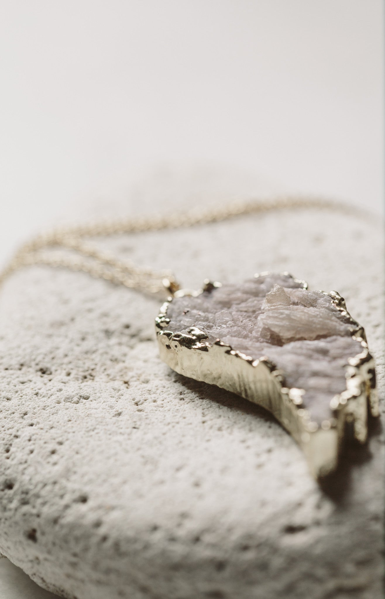 ERELA Druzy Angel Wing Necklace