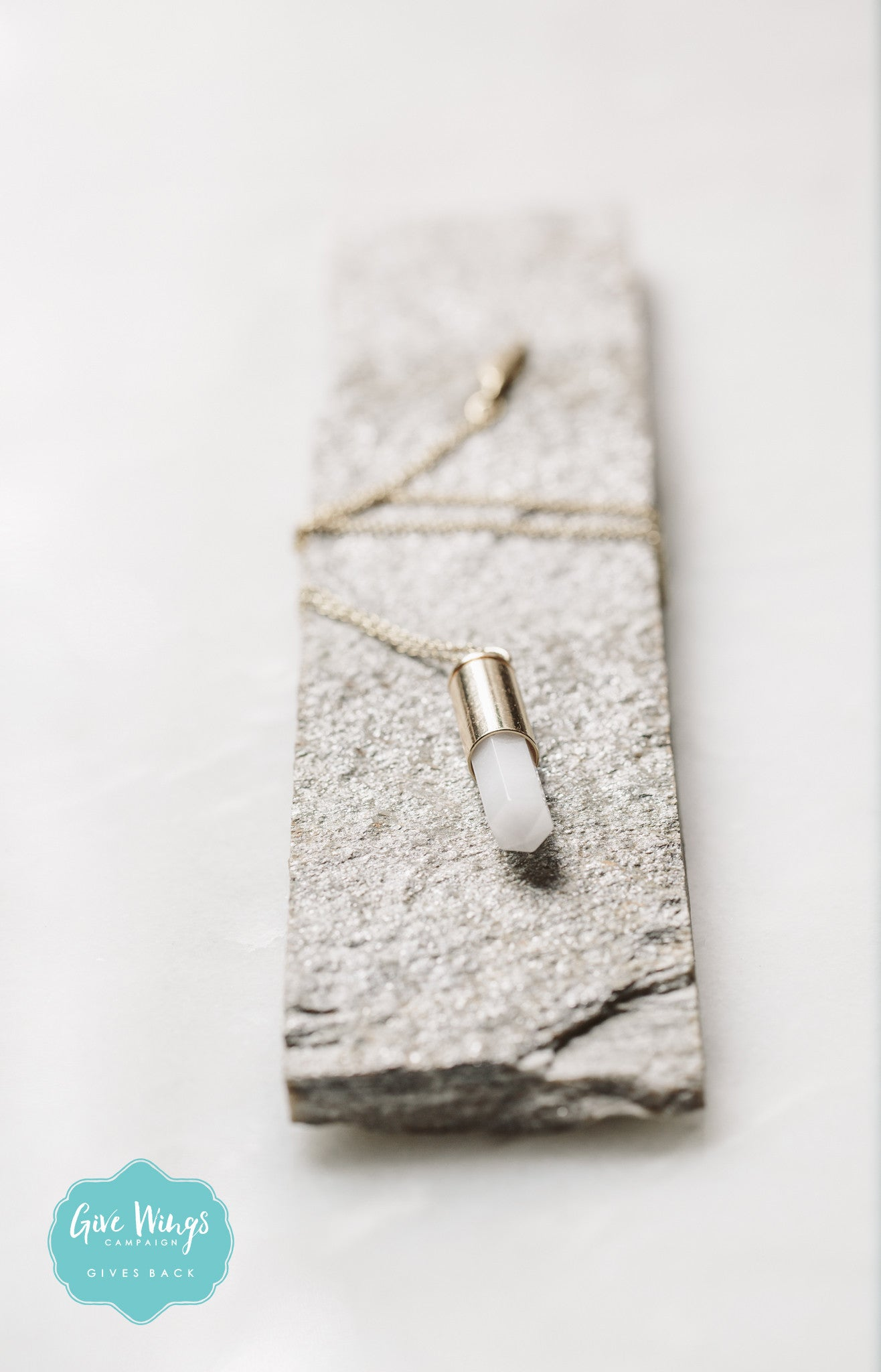 OLIVIA Druzy Bullet Necklace
