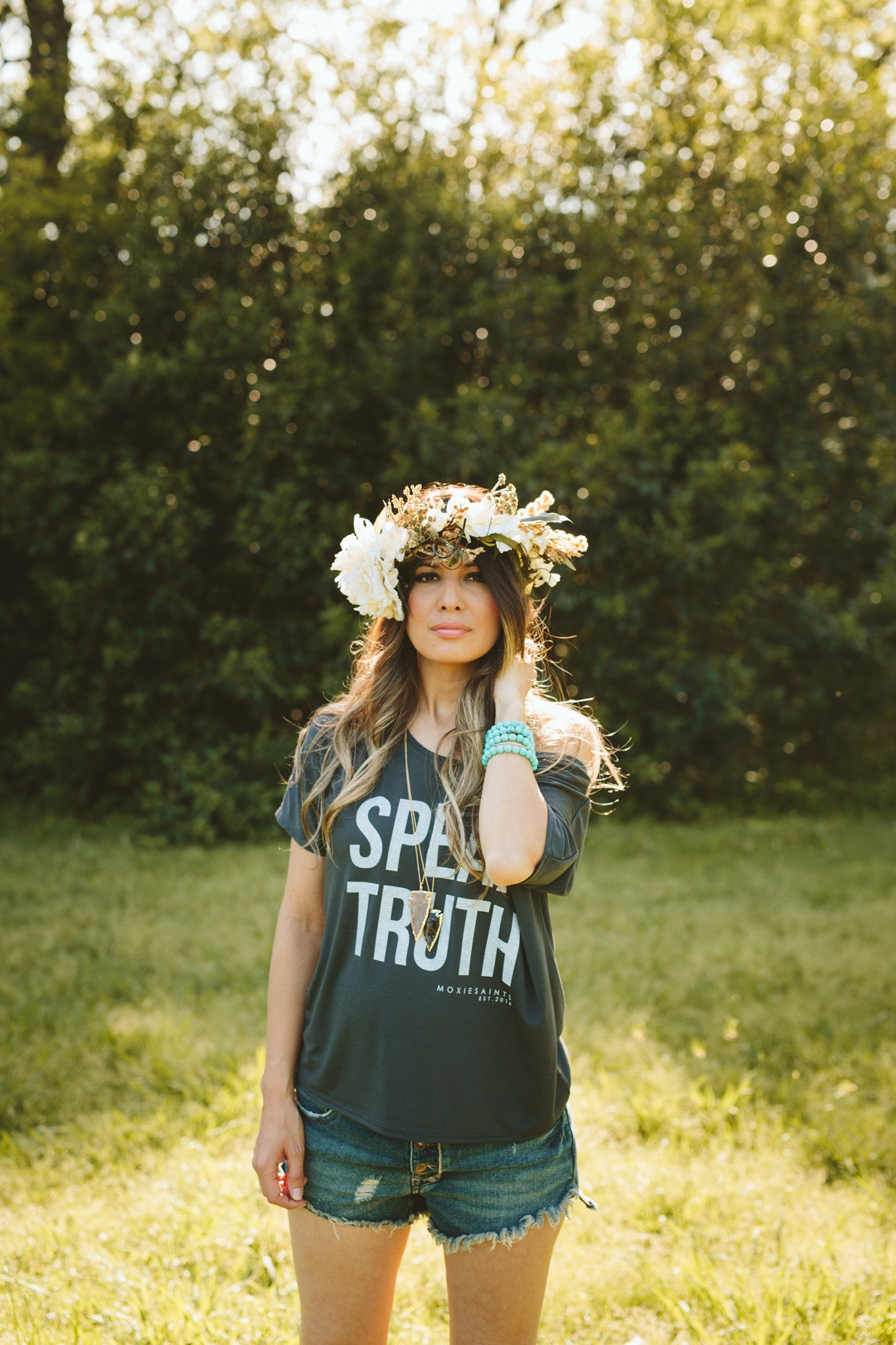 SPEAK TRUTH Slouchy Tee