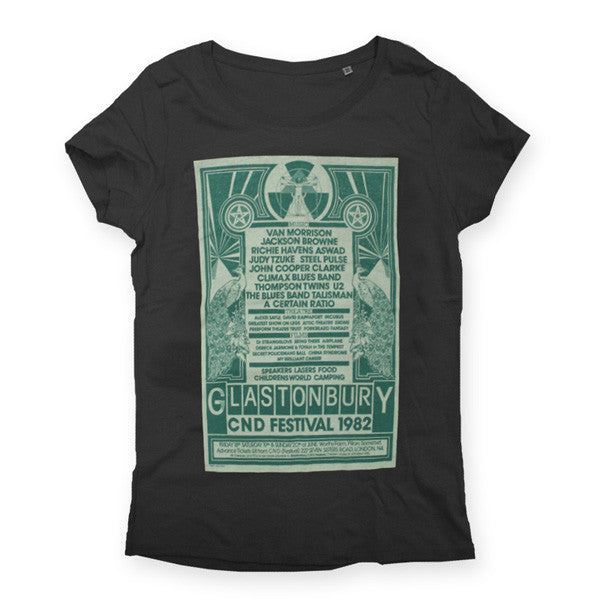 1982 Glastonbury Poster T-shirt (Womens)