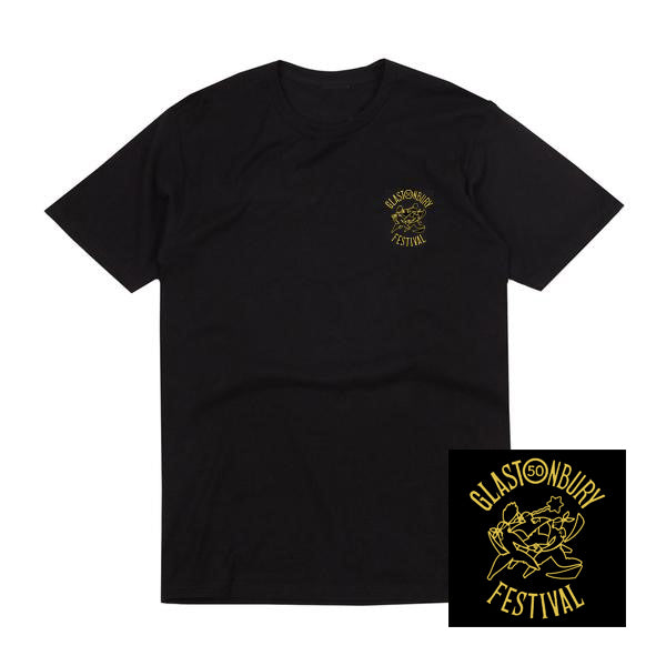 50TH ANNIVERSARY BLACK T-SHIRT