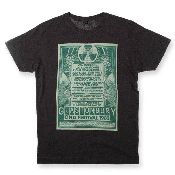 1982 Glastonbury Poster T-shirt (Unisex)