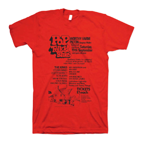 1970 PILTON POP RED T-SHIRT (UNISEX)