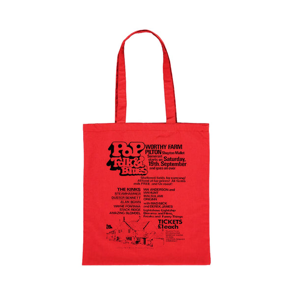 1970 PILTON POP RED TOTE BAG
