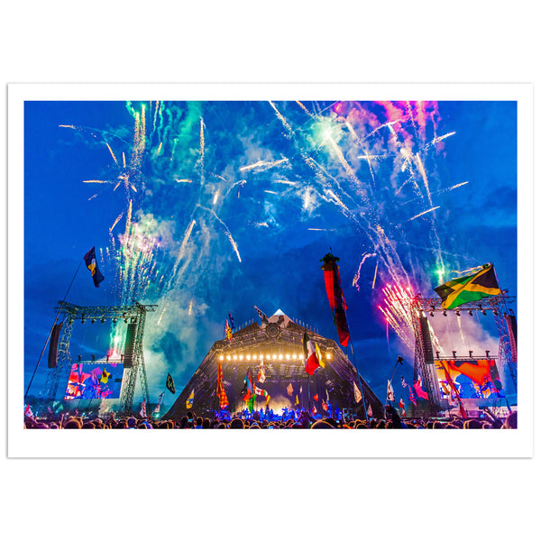 PYRAMID FIREWORKS SIGNED PHOTO PRINT