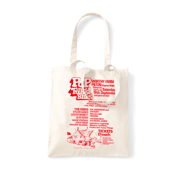 1970 PILTON POP NATURAL TOTE BAG
