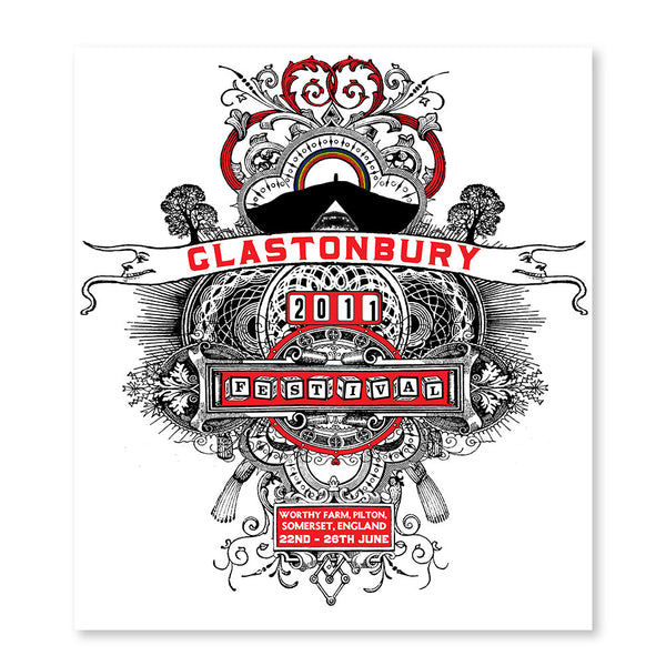 2011 Stanley Donwood Poster (White)