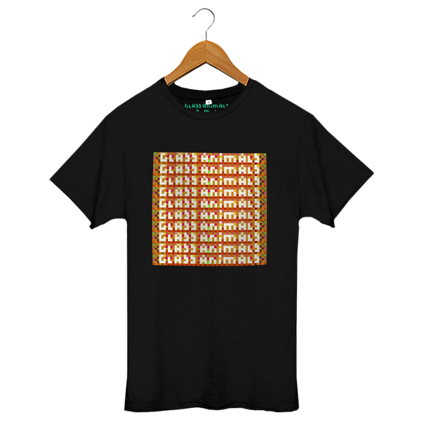 GLASS ANIMALS REPEAT LOGO BLACK T-SHIRT