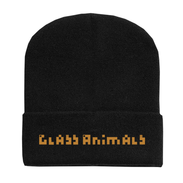 HTBAHB LOGO EMBROIDERED BLACK BEANIE