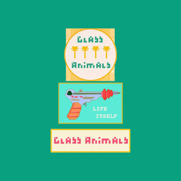GLASS ANIMALS WOVEN PATCH SET (3PC)
