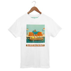 GLASS ANIMALS HIPSTER TOUR WHITE T-SHIRT