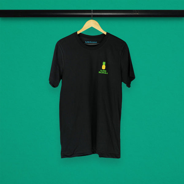 GLASS ANIMALS SMALL PINEAPPLE BLACK TEE