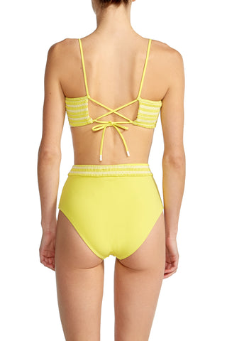 High Waist Bottom in Yellow