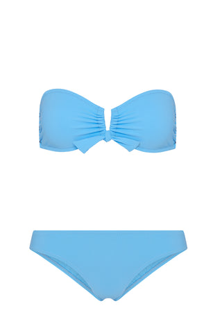 Aria Smocked Bikini in Pale Blue