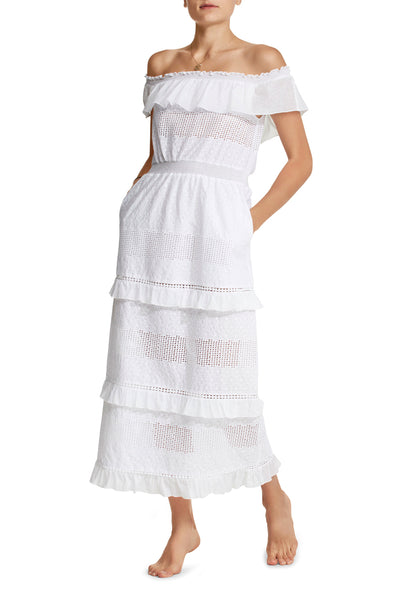 Bar Maxi in White Eyelet