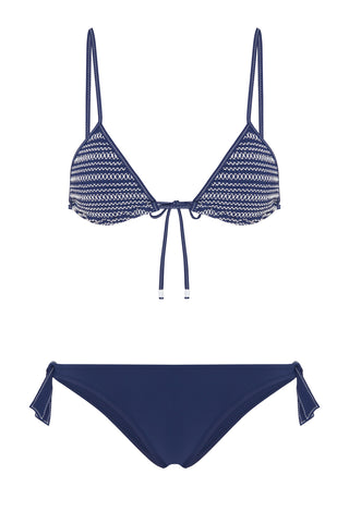 Bella Triangle Bikini in Navy