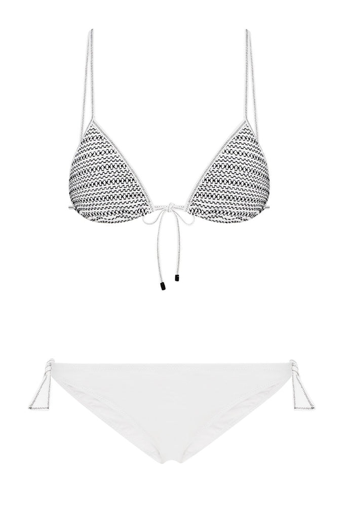 Bella Triangle Bikini in White/Black