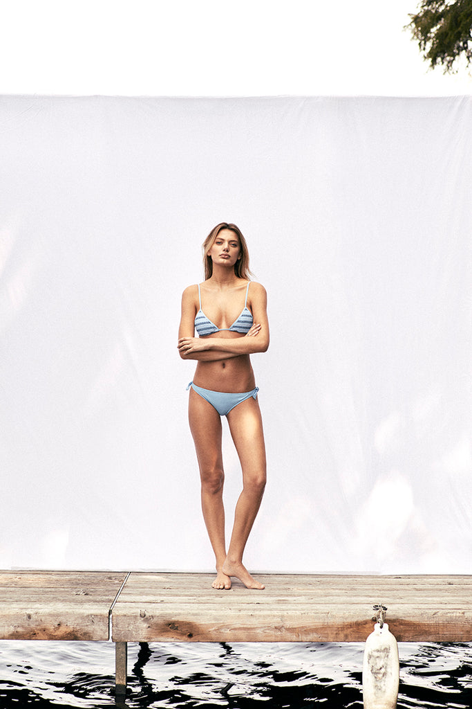 Bella Triangle Bikini in Pale Blue