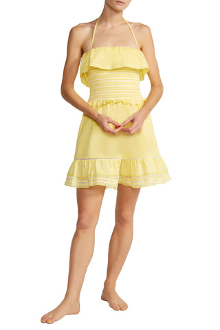 Cosima Smocked Dress in Yellow