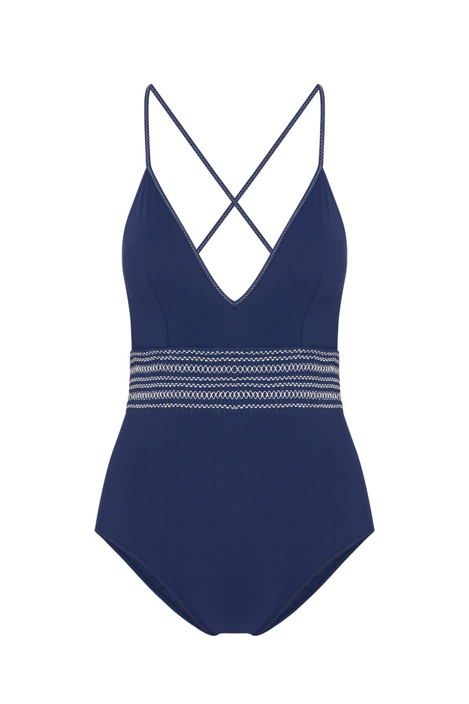 Eden One Piece in Navy