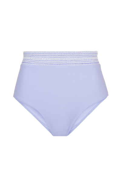 High Waist Bottom with Smocked Band in Purple