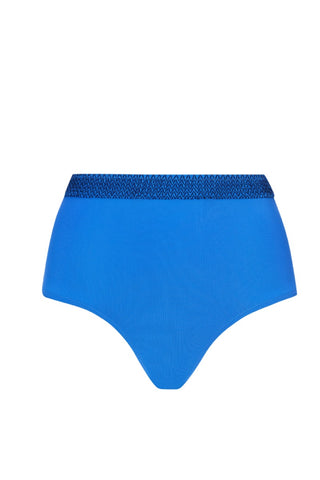 High waist bikini bottom in indigo