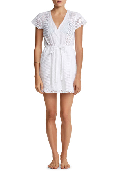 Ilanit Dress in White Eyelet