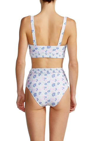 High Waist Bottom in Pink Floral