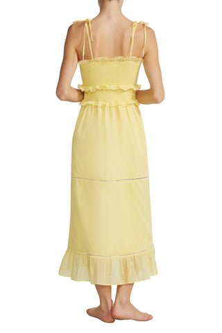 Luna Smocked Dress in Yellow