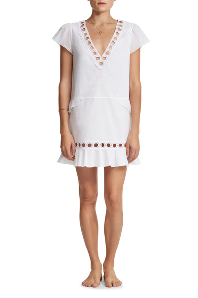 Naomi V-Neck Cotton Tunic