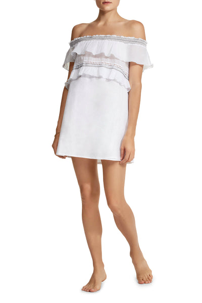 Noy Smocked Cotton Tunic