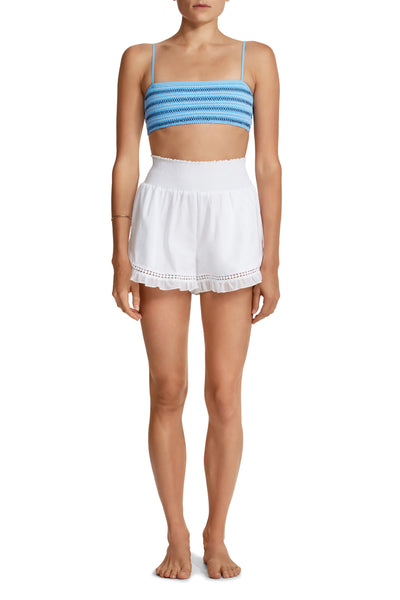 Or Smocked Shorts