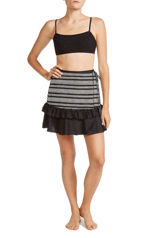 Shirley Wrap Skirt in Black
