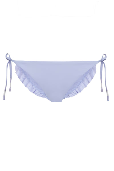 Skinny Tie Bikini Bottom in Purple