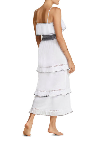 Tal Smocked Tiered Cotton Dress