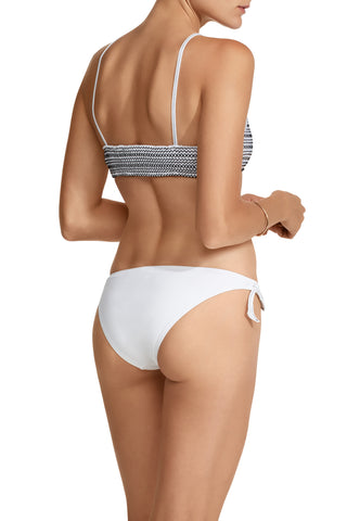 Terez Crop Top Bikini in White/Black