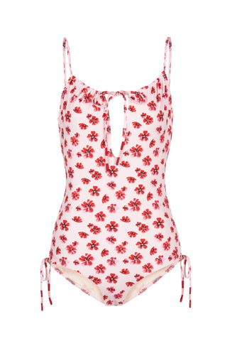 Uma One Piece Swimsuit in Pink Floral
