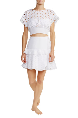 Zoie Top in White Eyelet