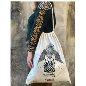 Aleks Byrd Knitster Girl Project Sack - WOOLS OF NATIONS
