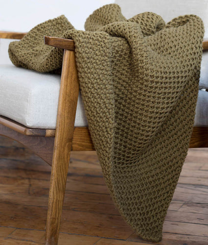 Blue Sky Fibers LaGrand Throw Knit Kit - WOOLS OF NATIONS