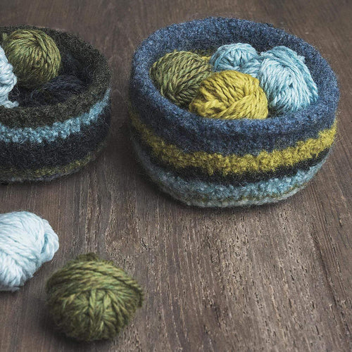 Blue Sky Fibers Fairmont Felted Bowls (FREE) - WOOLS OF NATIONS