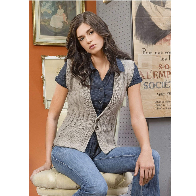 Blue Sky Fibers - Pleated Vest - WOOLS OF NATIONS