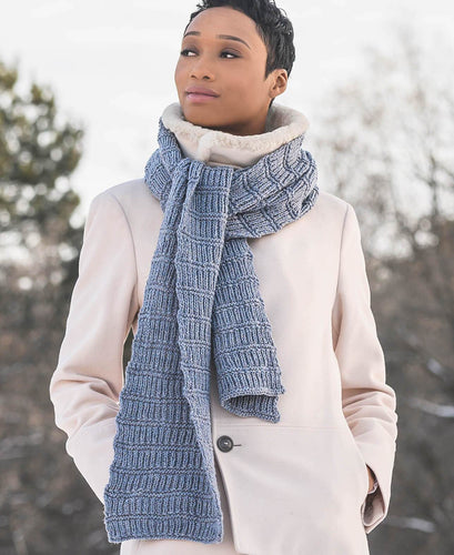 Blue Sky Fibers - Ramsey Ribbed Scarf - WOOLS OF NATIONS