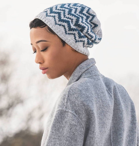 Blue Sky Fibers - Springfield Chevron Hat - WOOLS OF NATIONS